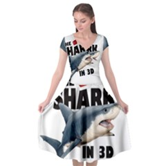 The Shark Movie Cap Sleeve Wrap Front Dress by Valentinaart