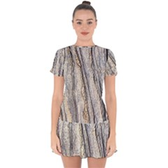 Texture Structure Marble Surface Background Drop Hem Mini Chiffon Dress by Nexatart