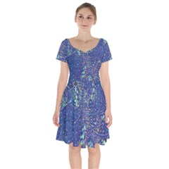 Blueblue1 Short Sleeve Bardot Dress by Survivor1shop
