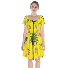 Aloha   Summer Fun 2 Short Sleeve Bardot Dress