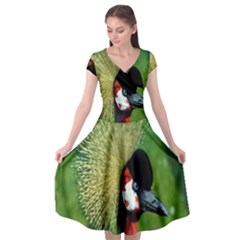 Bird Hairstyle Animals Sexy Beauty Cap Sleeve Wrap Front Dress by Mariart