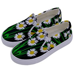 Bouquet Geese Flower Plant Blossom Kids  Canvas Slip Ons by Nexatart