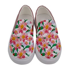 Pink Cute Cosmos Women s Canvas Slip Ons by PattyVilleDesigns