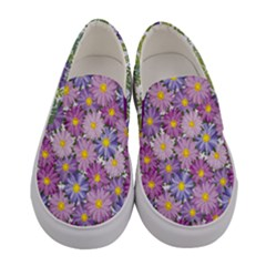 Purple Seamless Cosmos Women s Canvas Slip Ons by PattyVilleDesigns