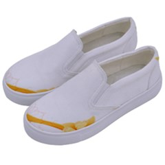 Flower Floral Yellow Sunflower Star Leaf Line Kids  Canvas Slip Ons by Mariart