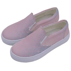 Love Heart Flower Purple Sexy Rose Kids  Canvas Slip Ons by Mariart