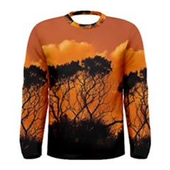 Trees Branches Sunset Sky Clouds Men s Long Sleeve Tee by Celenk
