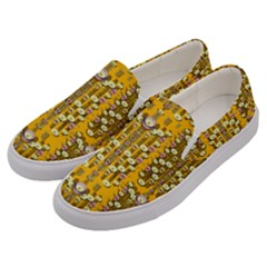 Rain Showers In The Rain Forest Of Bloom And Decorative Liana Men s Canvas Slip Ons by pepitasart