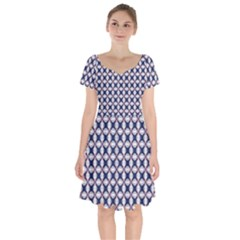 Kaleidoscope Tiles Short Sleeve Bardot Dress by jumpercat
