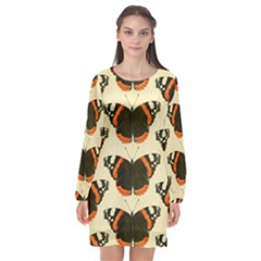 Butterfly Butterflies Insects Long Sleeve Chiffon Shift Dress  by BangZart