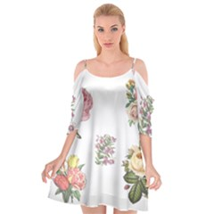 Rose Flowers Campanula Bellflower Cutout Spaghetti Strap Chiffon Dress by Celenk