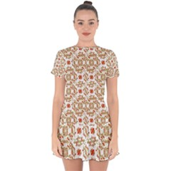 Colorful Modern Pattern Drop Hem Mini Chiffon Dress by dflcprints