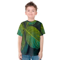 Green Plant Leaf Foliage Nature Kids  Cotton Tee