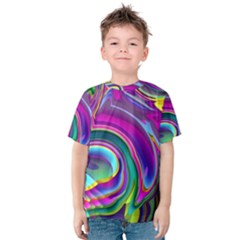 Background Art Abstract Watercolor Kids  Cotton Tee