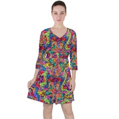 Colorful-12 Ruffle Dress by ArtworkByPatrick