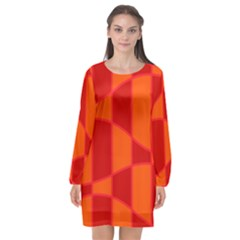 Background Texture Pattern Colorful Long Sleeve Chiffon Shift Dress  by Sapixe