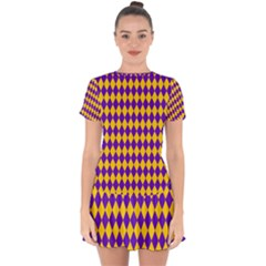 Real Jester Drop Hem Mini Chiffon Dress by jumpercat