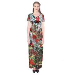Eden Garden 11 Short Sleeve Maxi Dress by bestdesignintheworld