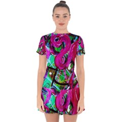 Flamingo   Child Of Dawn 2 Drop Hem Mini Chiffon Dress by bestdesignintheworld