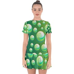 Background Colorful Abstract Circle Drop Hem Mini Chiffon Dress by Nexatart