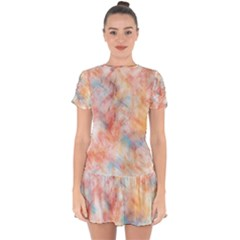 Wallpaper Design Abstract Drop Hem Mini Chiffon Dress by Nexatart