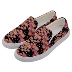 Fantasy Flower Ribbon And Happy Florals Festive Men s Canvas Slip Ons by pepitasart