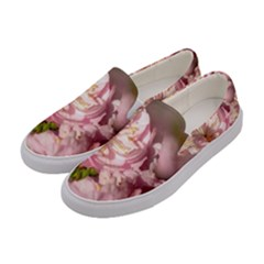 Beautiful Flowering Almond Women s Canvas Slip Ons by FunnyCow