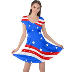 American Flag Cap Sleeve Dress by lwdstudio