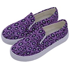 Ornate Forest Of Climbing Flowers Kids  Canvas Slip Ons by pepitasart