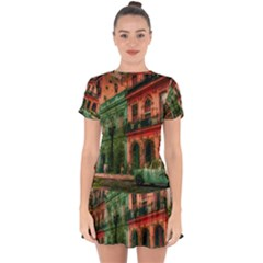 Havana Cuba Architecture Capital Drop Hem Mini Chiffon Dress by Nexatart
