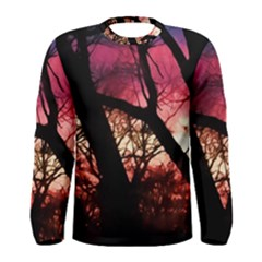 Fall Sunset Through The Trees Men s Long Sleeve Tee by bloomingvinedesign
