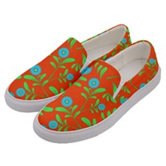 Background Texture Seamless Flowers Men s Canvas Slip Ons by Sapixe