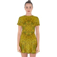Sunshine Feathers And Fauna Ornate Drop Hem Mini Chiffon Dress by pepitasart