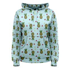 Pineapple Watermelon Fruit Lime Women s Pullover Hoodie