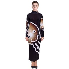 Friendly Firework Squid Turtleneck Maxi Dress by okhismakingart