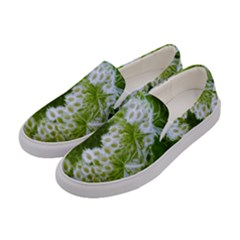 Green Closing Queen Annes Lace Women s Canvas Slip Ons by okhismakingart