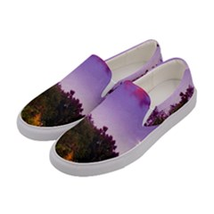 Purple Afternoon Women s Canvas Slip Ons by okhismakingart