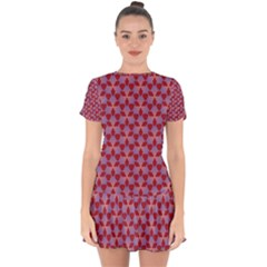Pattern New Seamless Drop Hem Mini Chiffon Dress by HermanTelo
