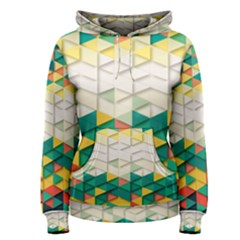 Background Triangle Women s Pullover Hoodie