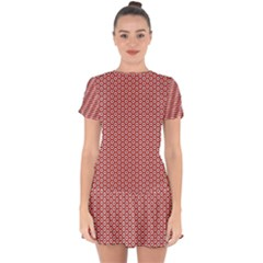 Pattern Star Backround Drop Hem Mini Chiffon Dress by HermanTelo