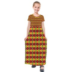 Rby-2-6 Kids  Short Sleeve Maxi Dress by ArtworkByPatrick