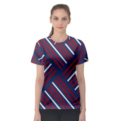 Geometric Background Stripes Women s Sport Mesh Tee