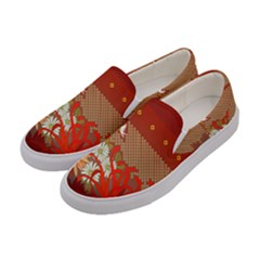 Abstract Flower Women s Canvas Slip Ons by HermanTelo