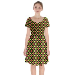 Pattern Texture Backgrounds Short Sleeve Bardot Dress