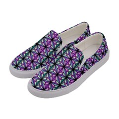 Triangle Seamless Women s Canvas Slip Ons by Mariart