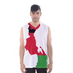Malawi Flag Map Geography Outline Men s Sportswear