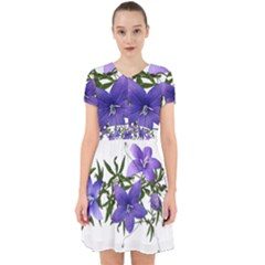 Flowers Blue Campanula Arrangement Adorable In Chiffon Dress by Pakrebo