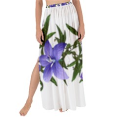 Flowers Blue Campanula Arrangement Maxi Chiffon Tie-up Sarong by Pakrebo