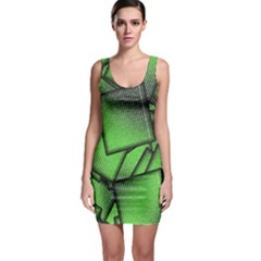 Binary Digitization Null Green Bodycon Dress