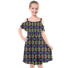 Abstract 11 Kids  Cut Out Shoulders Chiffon Dress by ArtworkByPatrick